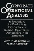 Corporate Operational Analysis A Procedure for Evaluating Key Factors in Internal Operations...