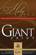 KJV Giant Print Bonded Black
