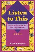 Listen to This Developing an Ear for Expository