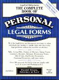 The Complete Book of Personal Legal Forms - Daniel Sitarz - Paperback - REVISED