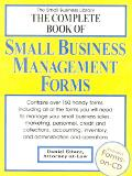Complete Book of Small Business Management Forms
