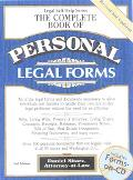 Complete Book of Personal Legal Forms - Daniel Sitarz - Compact Disc - 3RD BK&CD