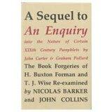 A Sequel to an Enquiry into the Nature of Certain Nineteenth Century Pamphlets by John Carte...