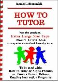 How To Tutor Extra Large Size Type Student Lesson book