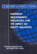 Earnings Measurement, Disclosure, and the Impact on Equity Valuation