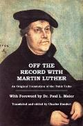 Off The Record With Martin Luther