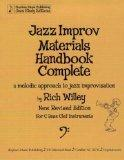 Jazz Improv Materials Handbook Complete, a Melodic Approach to Jazz Improvisation, for C Bas...