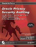 Oracle Privacy Security Auditing Includes Federal Law Compliance With Hipaa, Sarbanes Oxley ...
