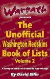 The Unofficial Washington Redskins Book of List Vol. 2