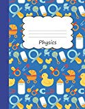Physics: Draw & Write Notebook Half Sketch & Wide Ruled Lined Paper | Yellow Rubber Duck & B...