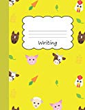 Writing: Animal Farm Large Blank Draw & Write Notebook Half Sketch & Wide Ruled Lined Paper ...