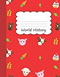World History: Animal Farm Large Blank 4 x 4 Quadrille Squared Coordinate Grid Paper | Cute ...