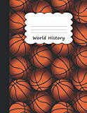World History: Basketball Large Primary Sketchbook Paper | Creative B-Ball Pattern Cover | T...