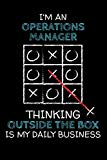 I'm an OPERATIONS MANAGER: Thinking Outside The Box - Blank Dotted Job Customized Notebook. ...