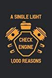 Check Engine: Car Enthusiast Notebook Garage Mechanic Journal Tuning Concept for mechanics a...