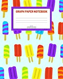 Graph Paper Notebook: Ice pops; 5 squares per inch; 100 sheets/200 pages; 8