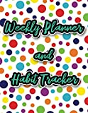 Weekly Planner and Habit Tracker: 2020 Calendar with 12 Months of Habit Tracking with a Rain...