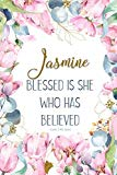 Jasmine: Blessed is She Who Has Believed -Luke 1:45(asv): Personalized Christian Notebook fo...