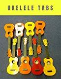 Ukelele Tabs: Blank ukelele tabs notebook with chord spaces