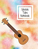 Ukelele Tabs Notebook: Blank ukelele tabs notebook with chord spaces
