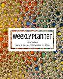 Weekly Planner: Multi-color; 18 months; July 1, 2019 - December 31, 2020