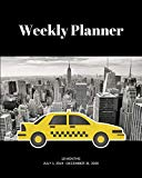 Weekly Planner: NYC taxi; 18 months; July 1, 2019 - December 31, 2020