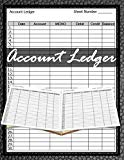 Account Ledger: 120 pages, Size 8.5 x 11 inches (double-sided), Journal Business Financial R...