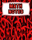Math Notes: 123 Pages, Blank Journal - Notebook To Write In, 5x5 Graph Paper Alternating Wit...