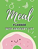 Meal Planner With Grocery List: Family Planners Healthy Daily Tracker Menu Ideas and Shoppin...