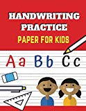 Handwriting Practice Paper For Kids: ABC Kids, Notebook with Blank Writing Dotted Lined Shee...