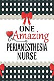 One Amazing Perianesthesia Nurse: Medical Theme Decorated Lined Notebook For Gratitude And A...