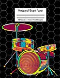 Hexagonal Graph Paper: Organic Chemistry & Biochemistry Notebook, Vibrant Drum Set Cover, 16...