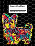 Hexagonal Graph Paper: Organic Chemistry & Biochemistry Notebook, Vibrant Yorkshire Terrier ...