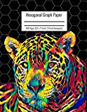 Hexagonal Graph Paper: Organic Chemistry & Biochemistry Notebook, Vibrant Leopard Cover, 160...