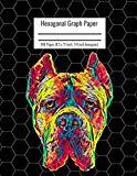 Hexagonal Graph Paper: Organic Chemistry & Biochemistry Notebook, Vibrant Cane Corso Dog Cov...