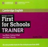 First for Schools Trainer Audio CDs (3) (Cambridge English)