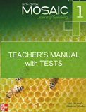 Mosaic 1 Listening/Speaking, Teacher's Manual with Tests, Sixth Edition