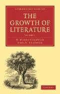 The Growth of Literature (Cambridge Library Collection - Literary  Studies) (Volume 1)