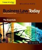 Bundle: Cengage Advantage Books: Business Law Today: The Essentials, 9th + WebTutor(TM) on B...