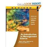 An Introduction to Management Science: Quantitative Approaches to Decision Making, Revised 1...