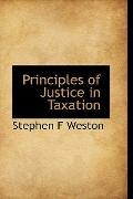 Principles of Justice in Taxation