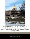 Higher Education in the State of Massachusetts: Colleges and Universities in Metropolitan Bo...