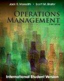 Operations Management for Mbas 5th Edition By Scott M. Shafer and Jack R. Meredith (2012, Pa...