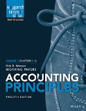 Accounting Principles, Volume 1 Chapters - 12: Working Papers