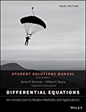 Differential Equations: An Introduction to Modern Methods and Applications 3E Student Soluti...