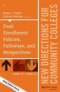 Dual Enrollment Policies, Pathways, and Programs, CC 169