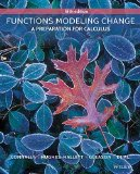 By Eric Connally Functions Modeling Change: A Preparation for Calculus (5th Fifth Edition) [...