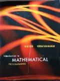 Introduction to Mathematical Programming Volume 1, 4th Edition w/CD (Introduction to Mathema...