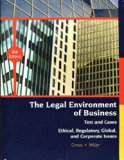 : Text El Cases Ethical, Regulatory, Global, and Corporate IssuesThe Legal Environment of Bu...