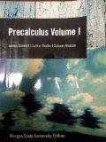 Precalculus Volume 1; Morgan State University Edition (Precalculus)